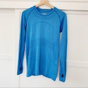 Lululemon Swiftly Tech Long Sleeve Blue Size 8
